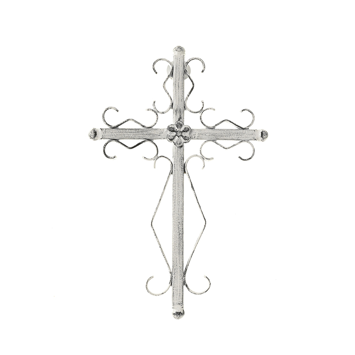 Whitewash Iron Wall Cross