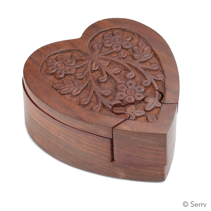 Wooden Heart Puzzle Box Plans