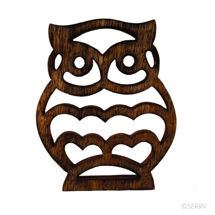 Owl Shesham Trivet