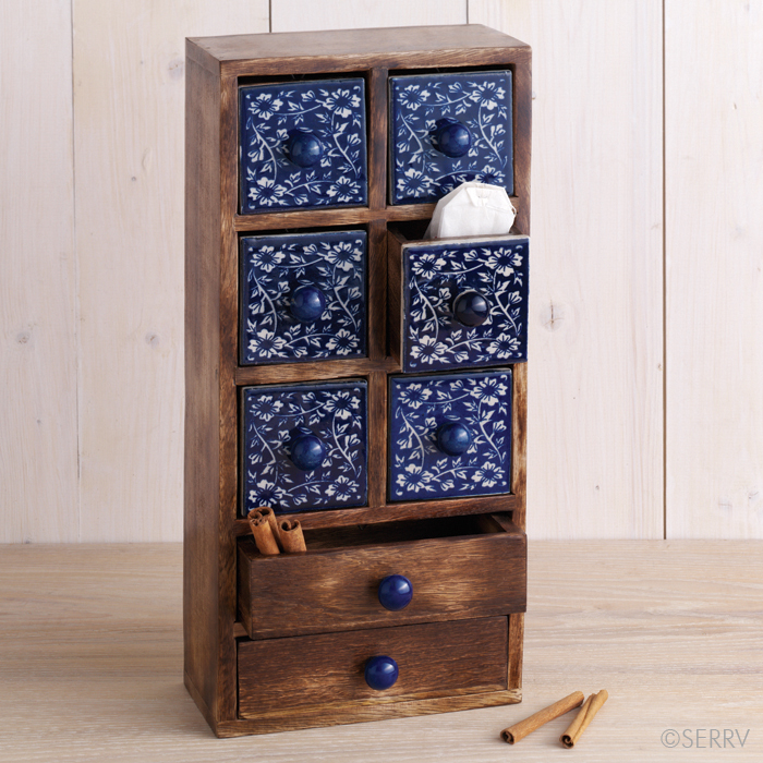 Indigo Spice Chest