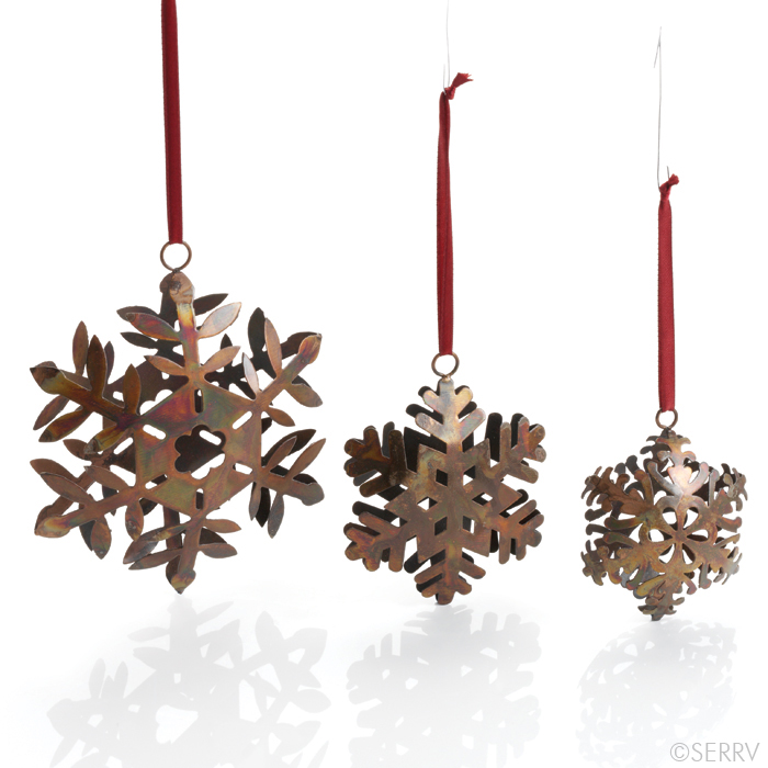 Iron Snowflake Ornament Set