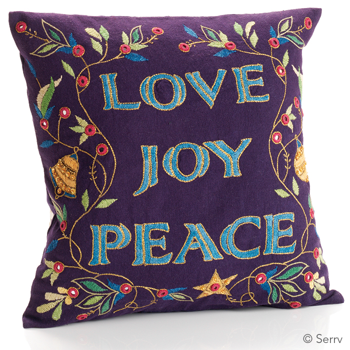 Joy Peace Love Pillow