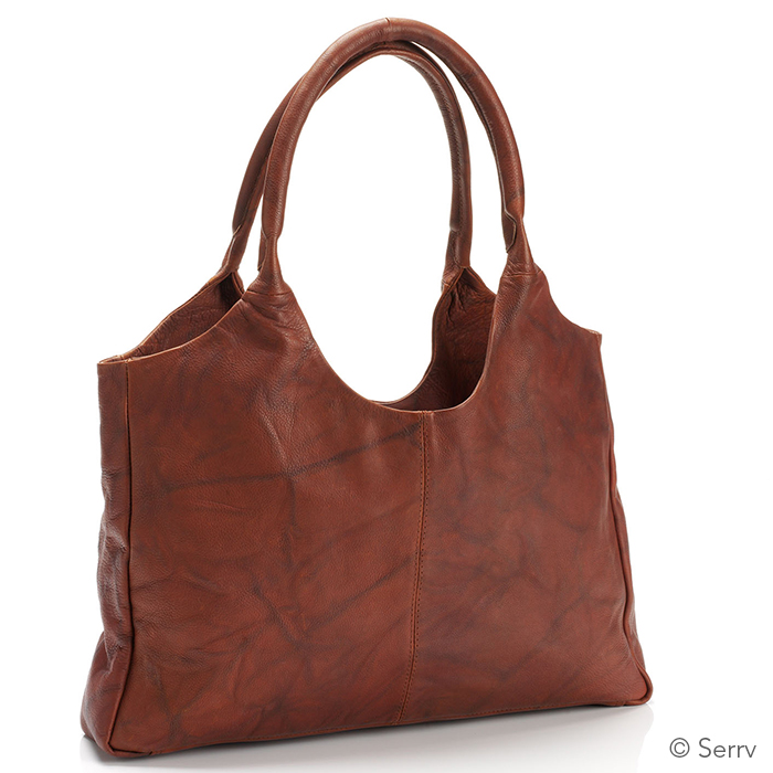 Essential Leather Bag - Mottled Antique Brown