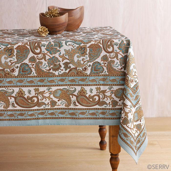 Teal & Gold Royal Jaipur Tablecloth