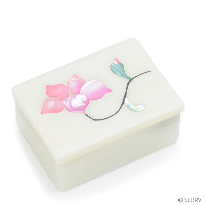 Pink Flora Inlay Box
