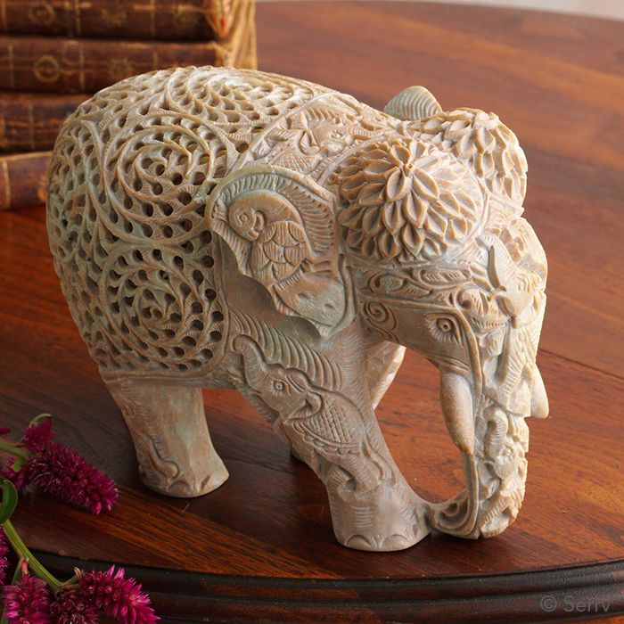 Triple-Carved Elephant