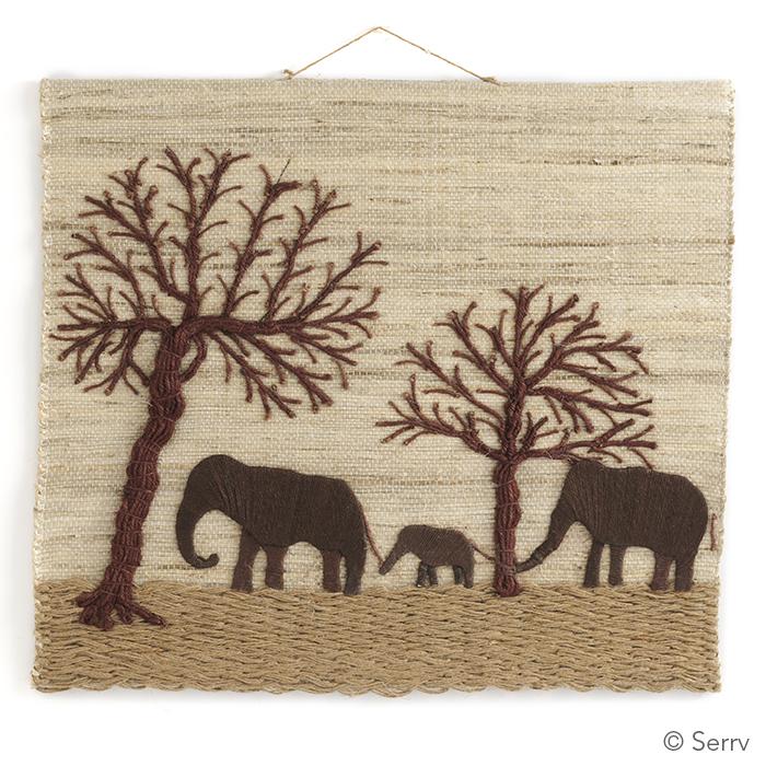 Jute Elephant Tapestry