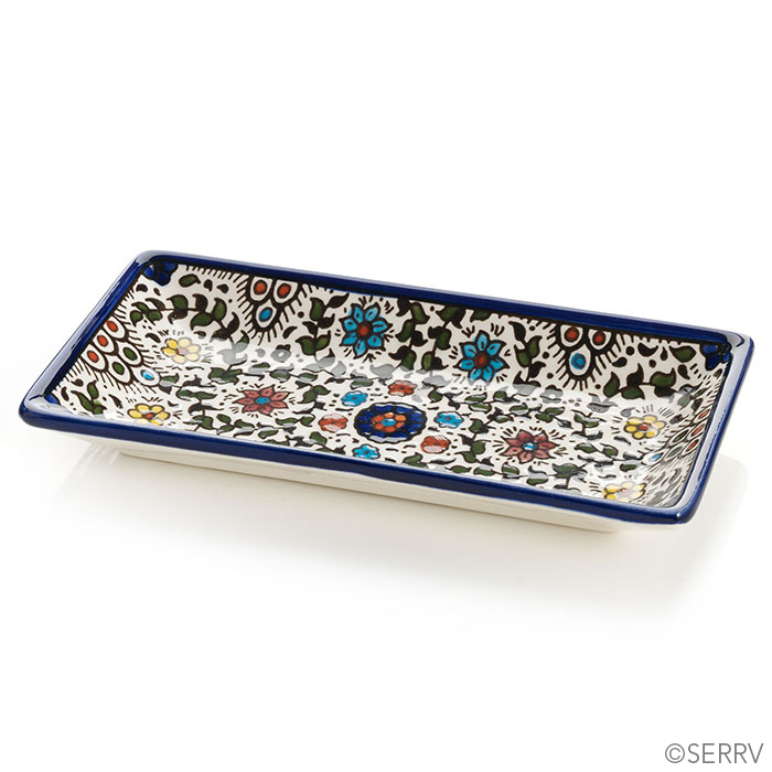 Blue West Bank Rectangle Tray