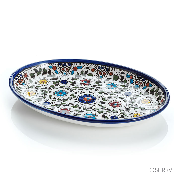 Blue West Bank Oval Tray
