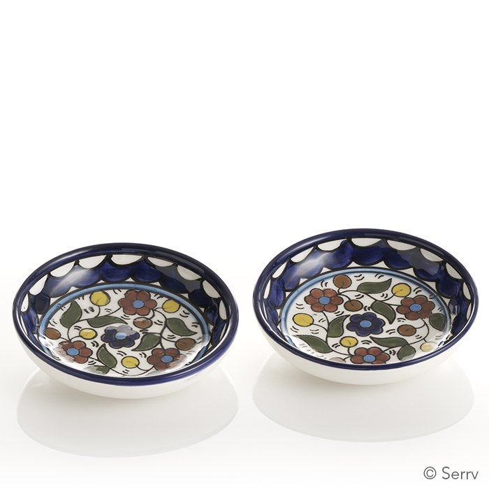 Handpainted Blue Dipping Bowls
