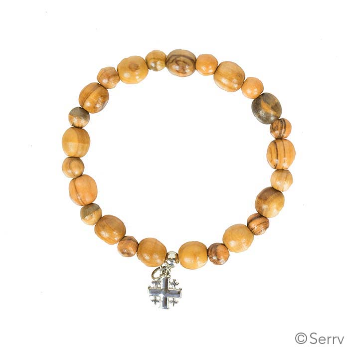 Beaded Jerusalem Cross Bracelet