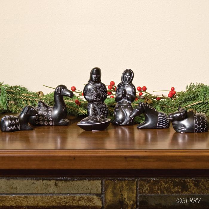 Carved Soapstone Nativity