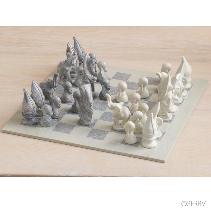 Tribal Warrior Chess Set