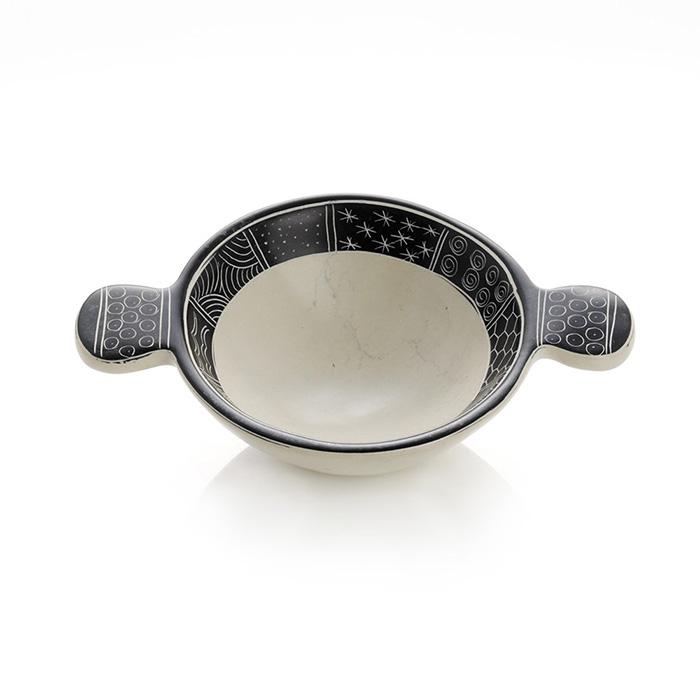 Small White Tab Soapstone Bowl