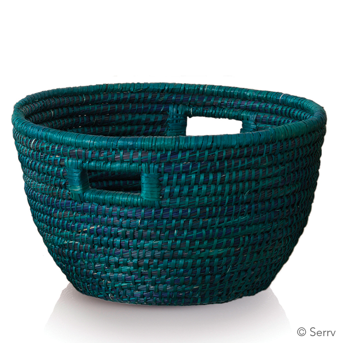 Teal Bucket Basket
