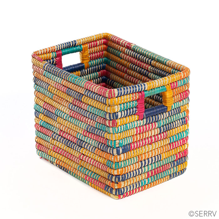 Rainbow Rectangular Basket