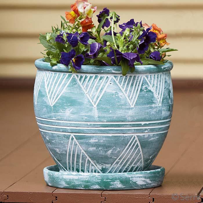 Medium Green Garden Pot