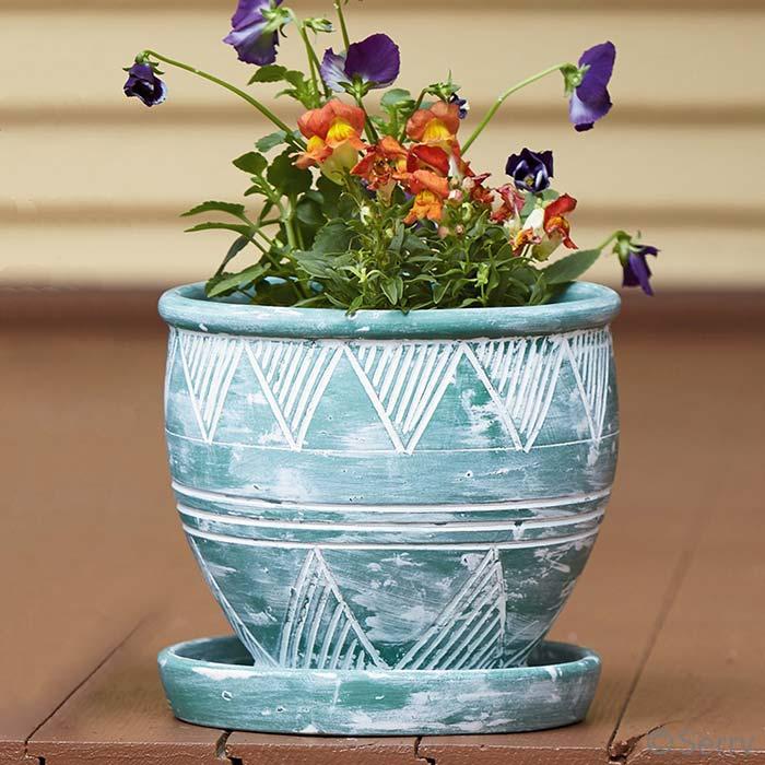 Small Green Garden Pot
