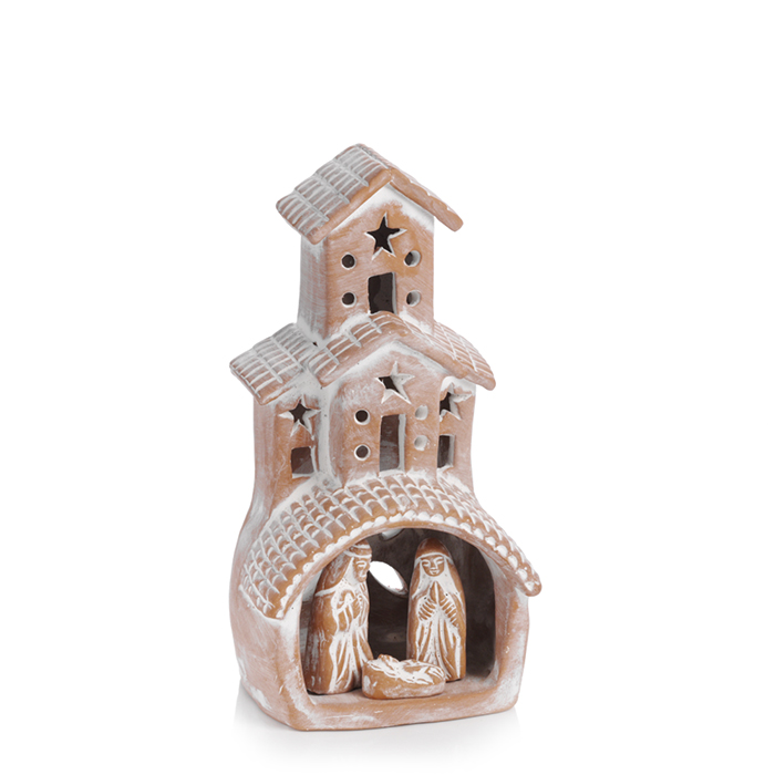 Terracotta Chimney Nativity