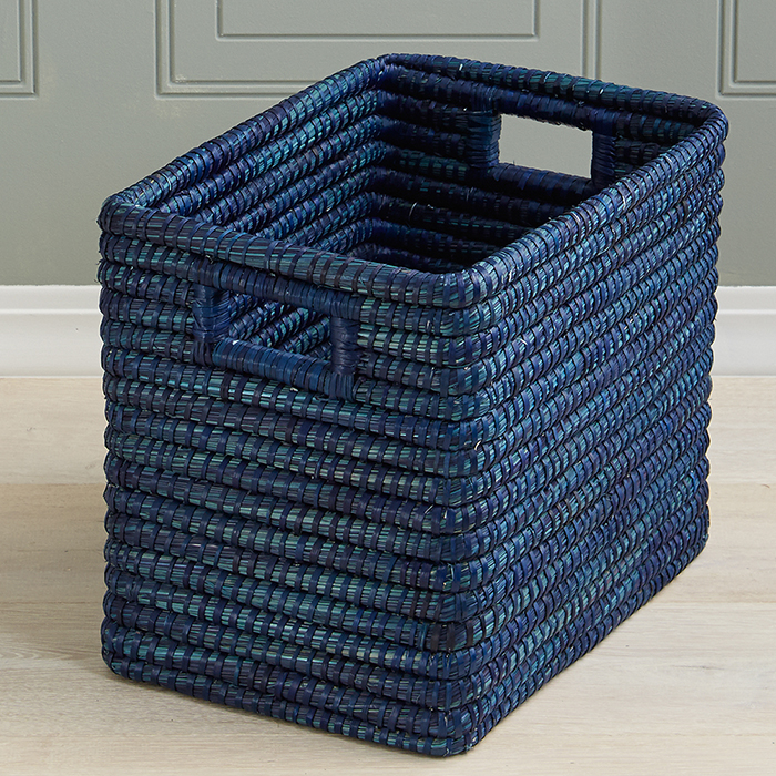 Indigo Rectangle Basket