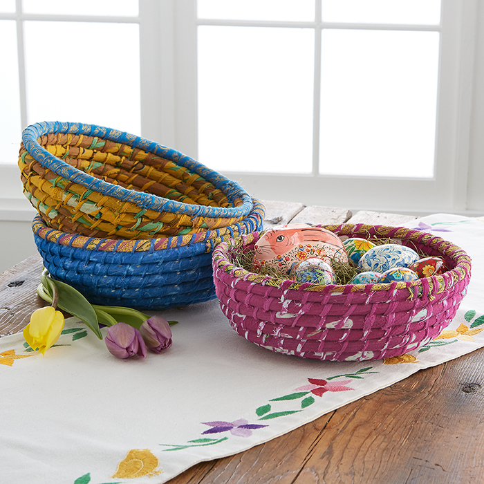Set of 3 Round Chindi Baskets