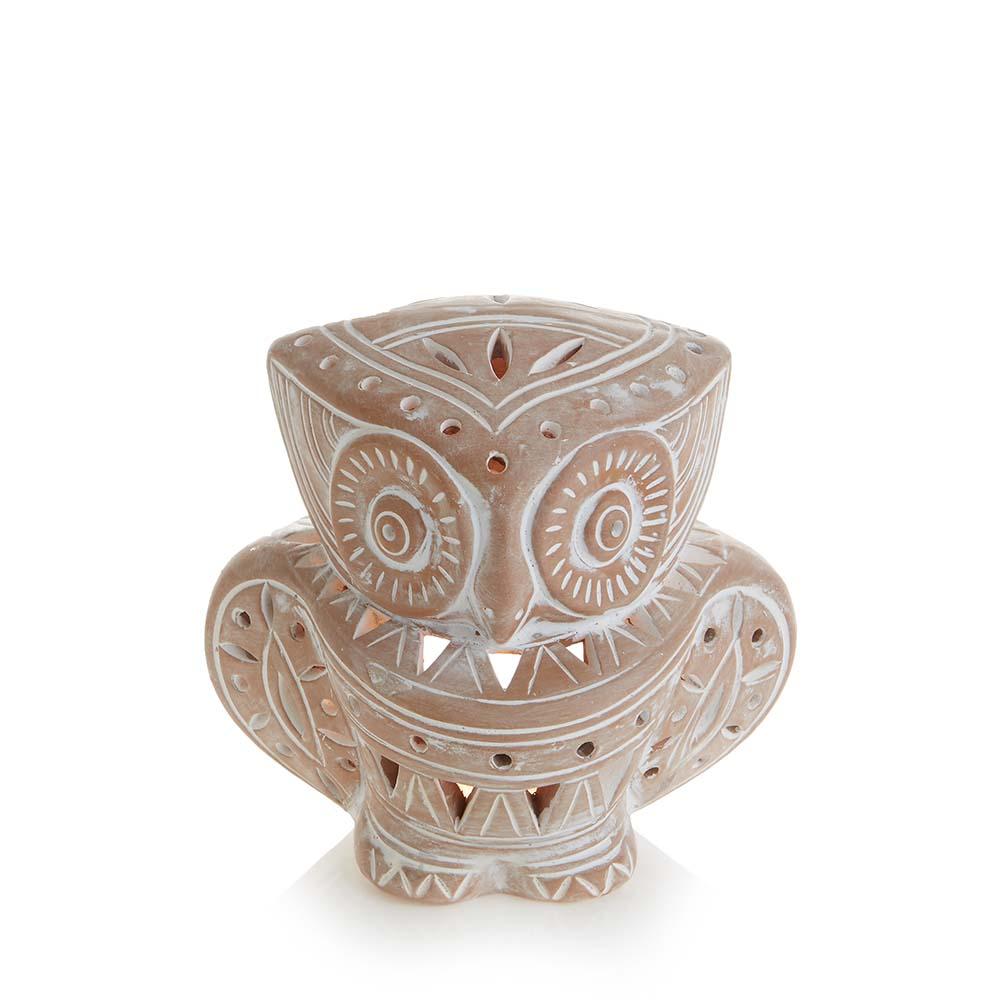 Terracotta Owl Lantern