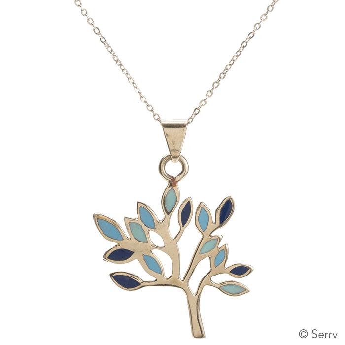 Turquoise Tree of Life Pendant
