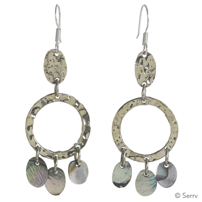 Abalone Triple-Drop Earrings