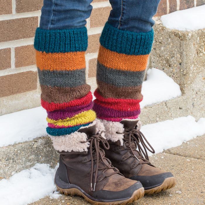 Bright Stripe Himalaya Leg Warmers