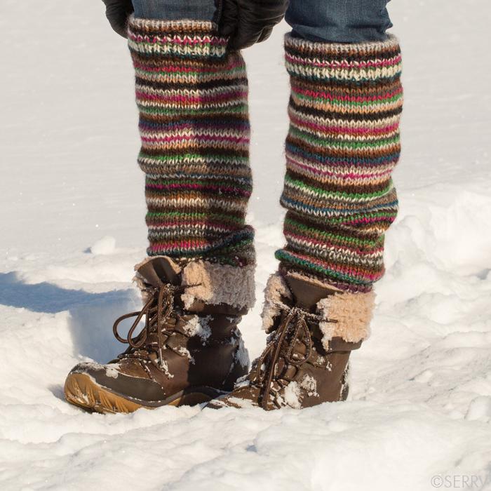 Merino Stripe Leg Warmers