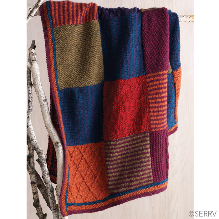 Bold & Bright Patchwork Throw