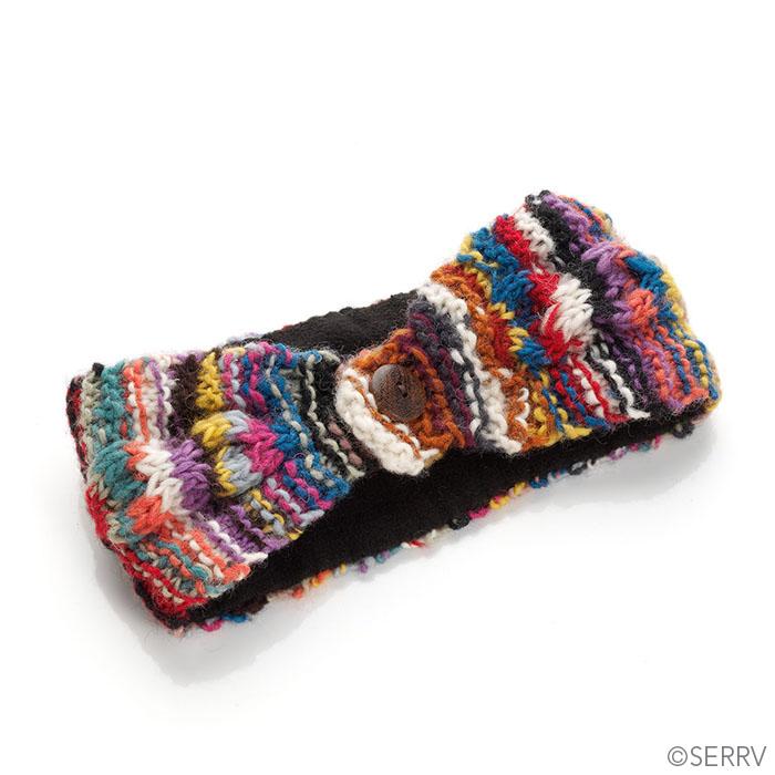 Rainbow Remnants Knit Headband