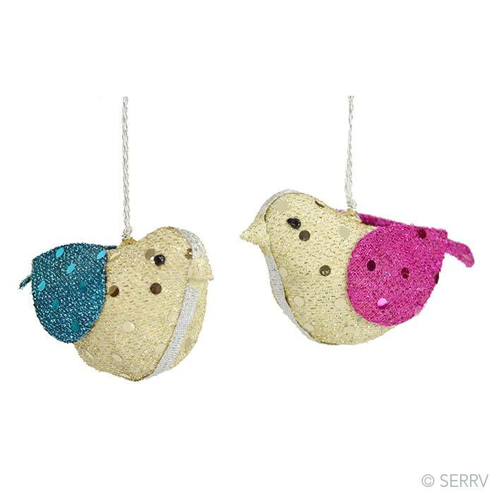 Glitter Birds Ornament Set