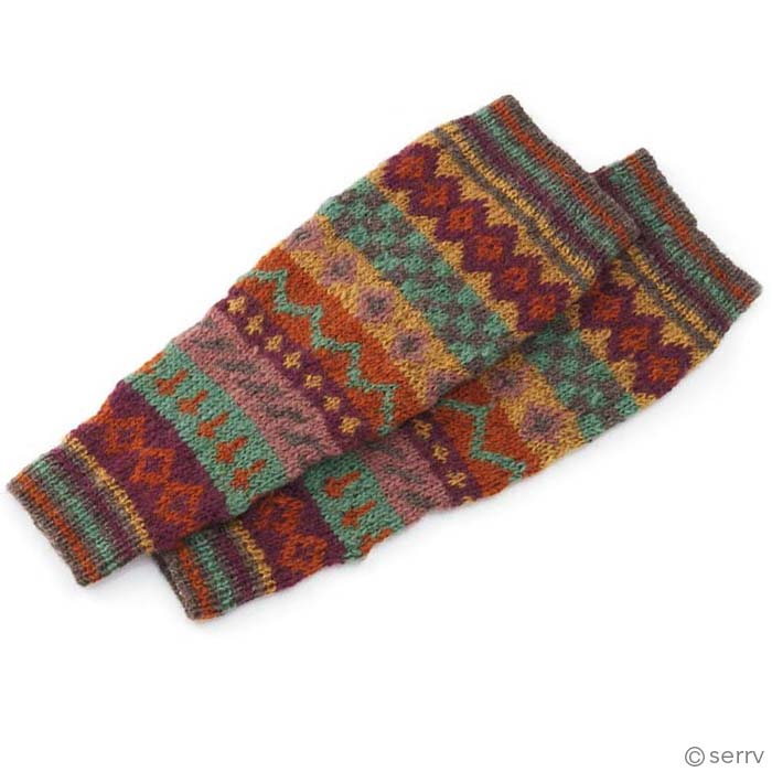 Spice Stripe Leg Warmers
