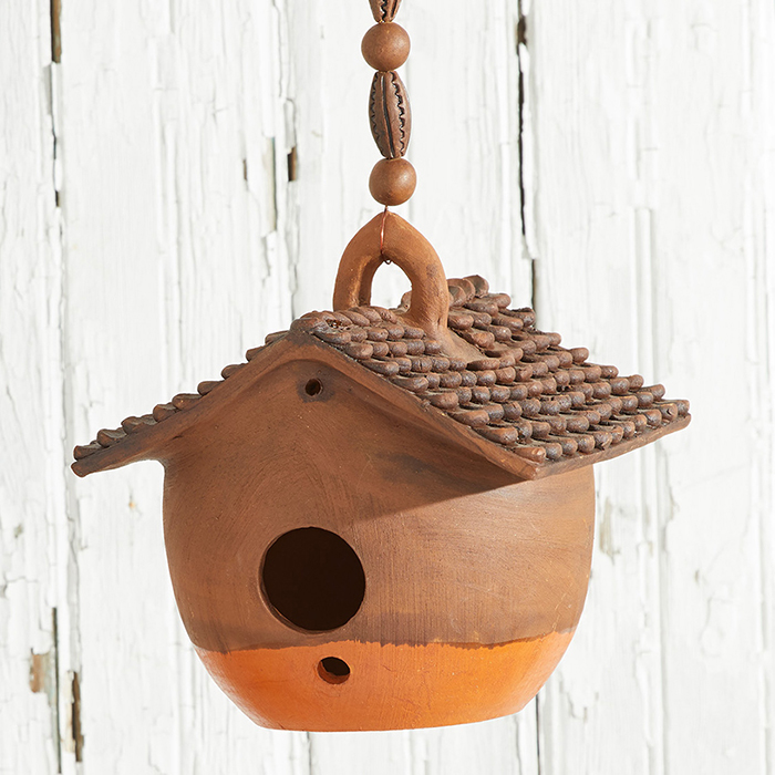 Nepali Birdhouse - Orange Base