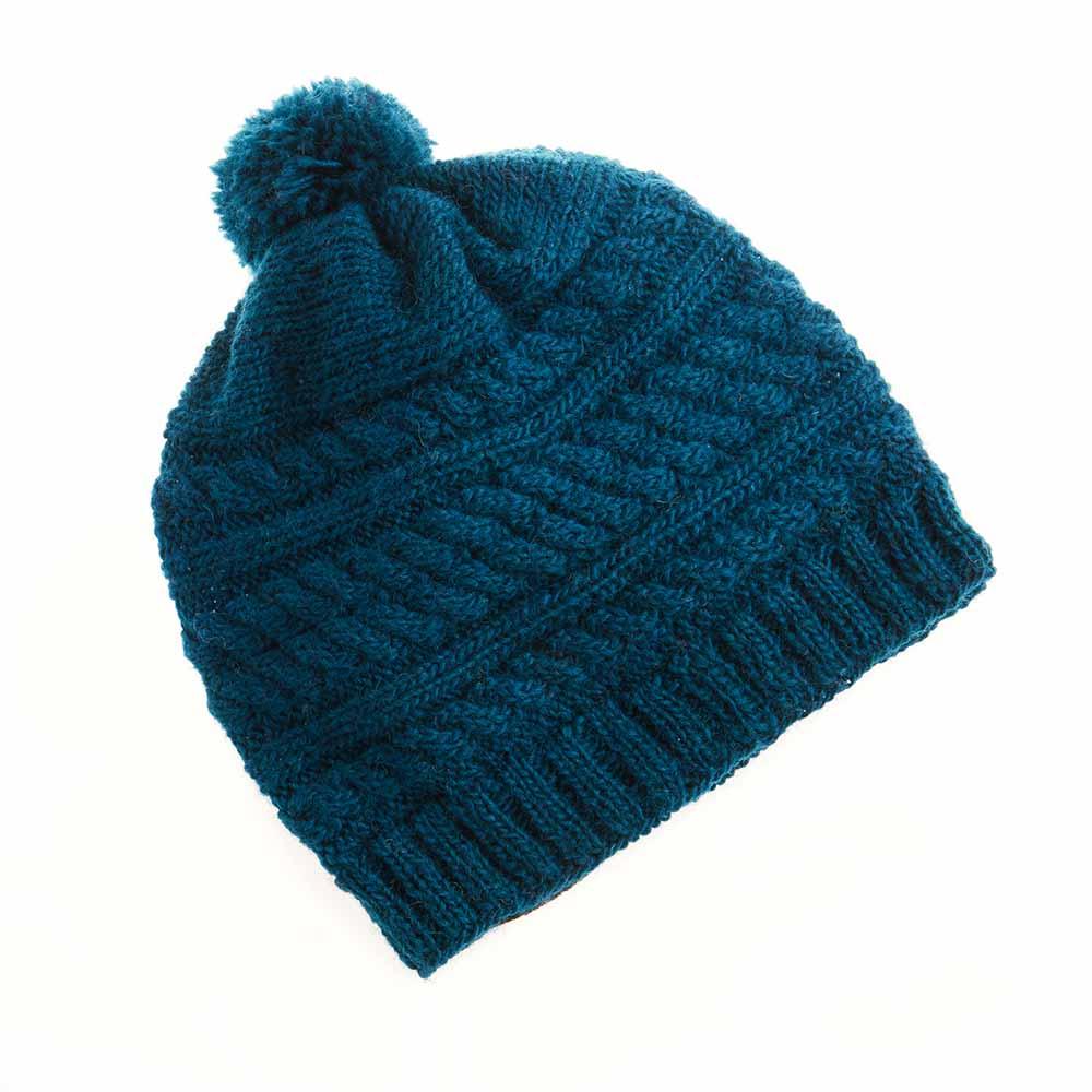 Teal Pom Hat