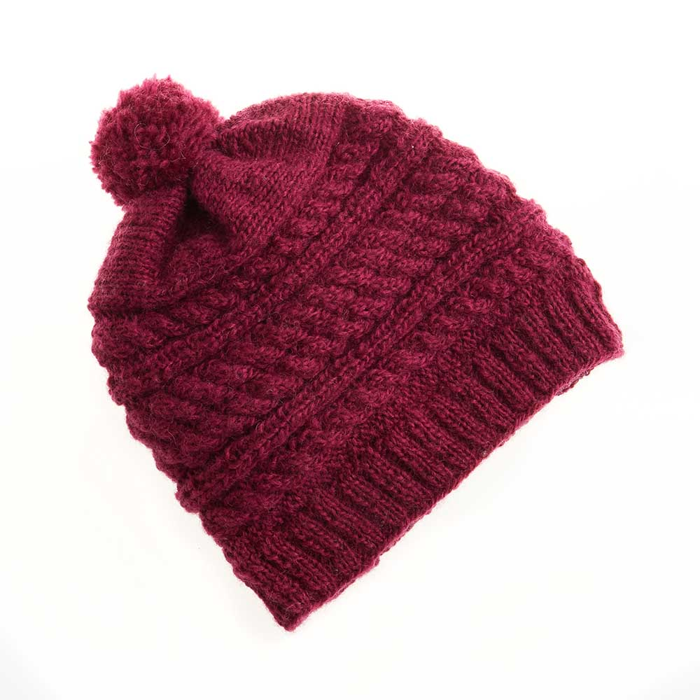 Mulberry Pom Hat