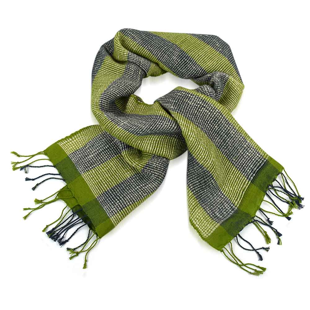 Bunai Scarf - Apple & Gray
