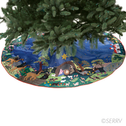 Arpillera Nativity Tree Skirt