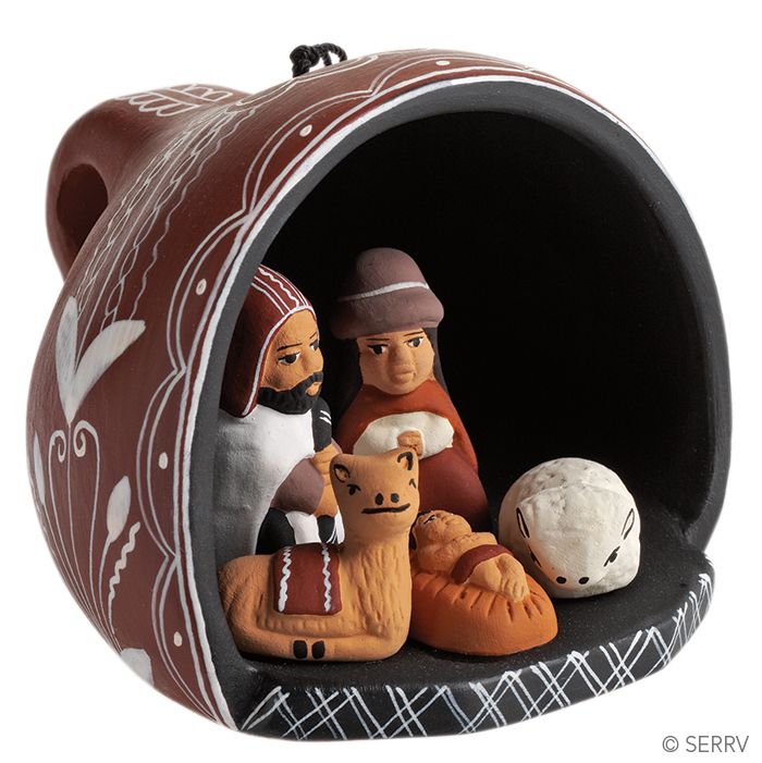 Teacup Nativity Ornament
