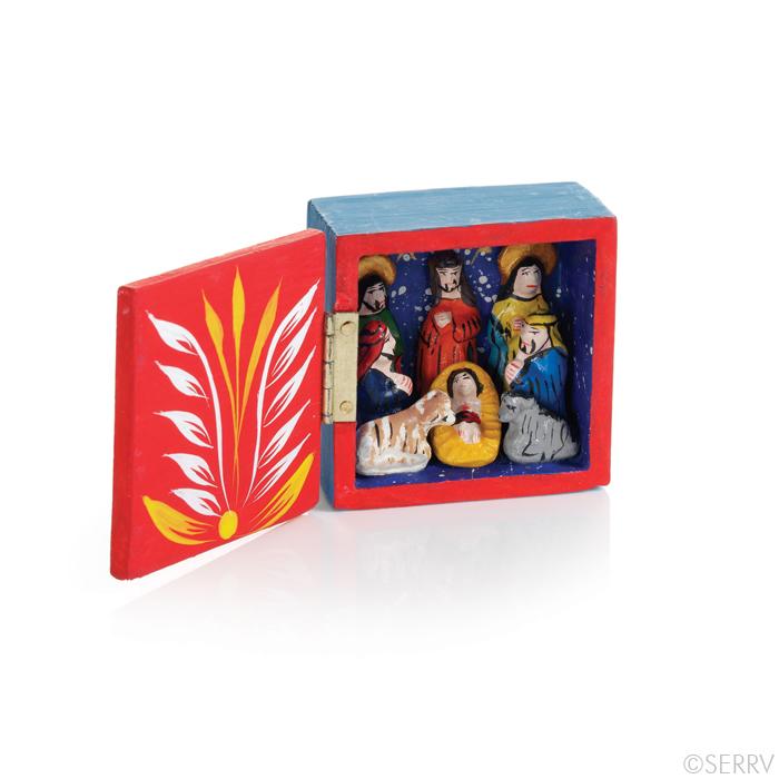 Mini Retablo Box Nativity