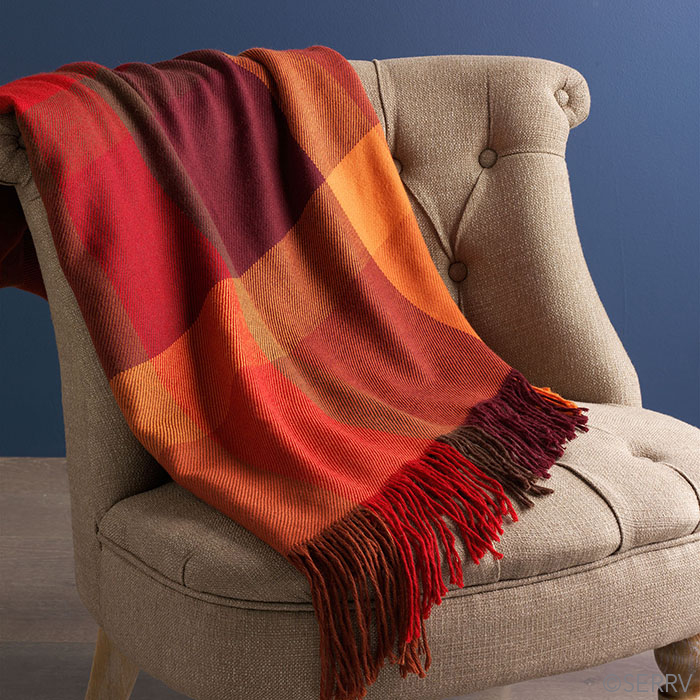 Alpaca Throw - Autumn Luxe
