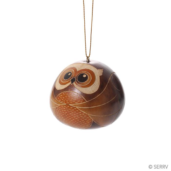 Owl Gourd Ornament