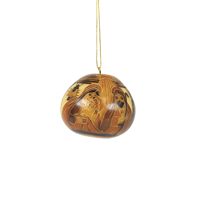 Nativity Gourd Ornament