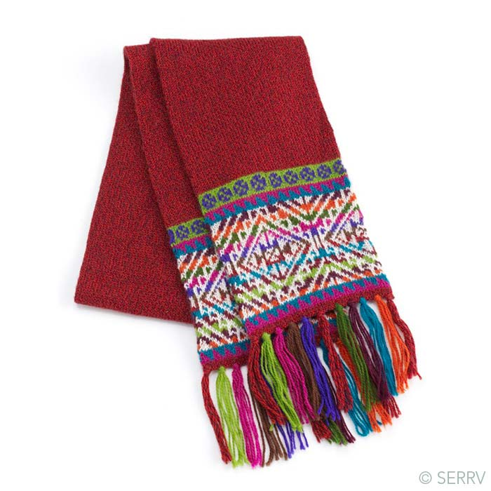 Andean Double-Knit Scarf