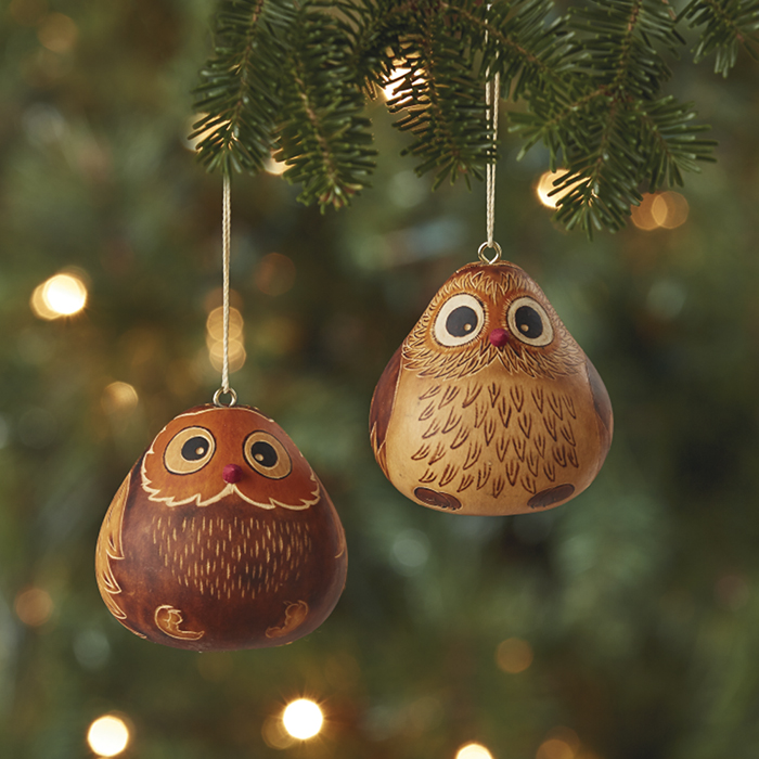 Owl Gourd Ornament Set - Owl Gourd Ornament Set, Top Picks: Serrv International