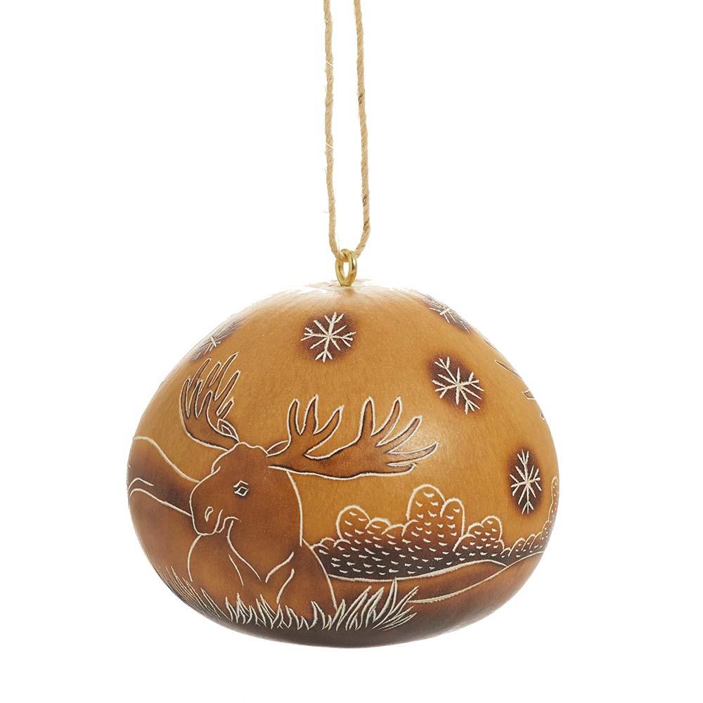 Moose Gourd Ornament