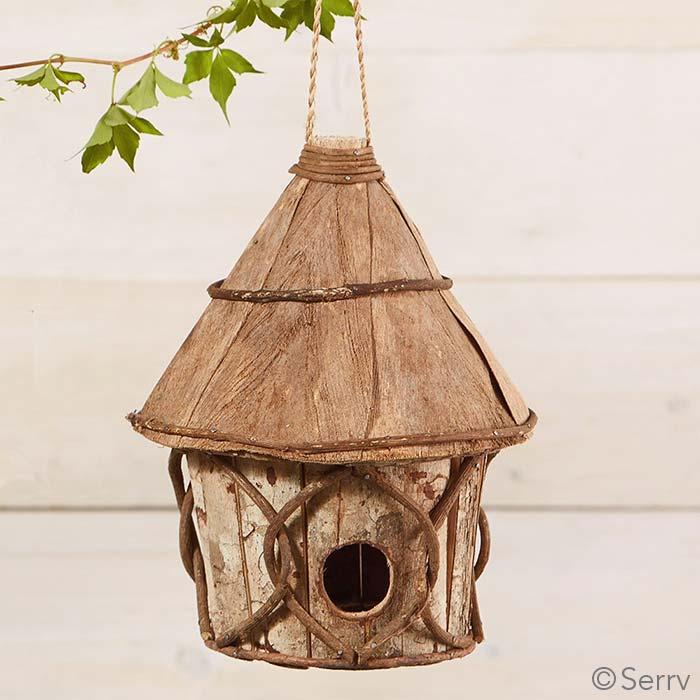 Round Cabin Birdhouse