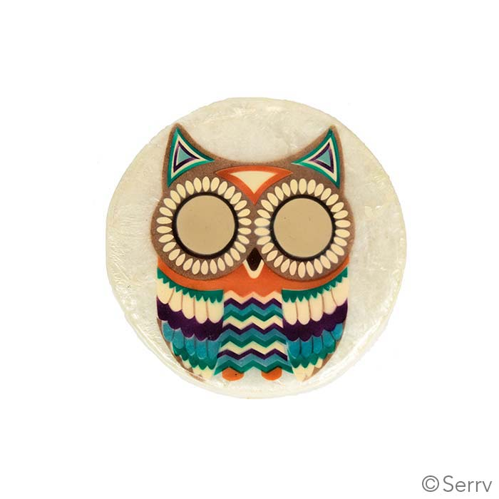 Capiz Owl Trinket Box