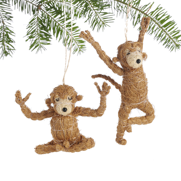 Yoga Monkey Ornaments